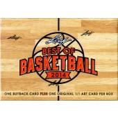 2014 Leaf Best of Basketball Hobby 3 Box Case