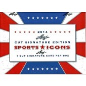 2014 Leaf Sports Icons Cut Signature 10 Box Case