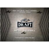 2014 Leaf Metal Draft Baseball Hobby 12 Box Case