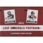 2014 Leaf Originals Football Hobby 12 Box Case