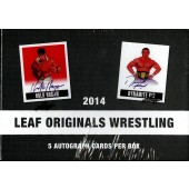 2014 Leaf Originals Wrestling Hobby 12 Box Case