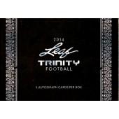 2014 Leaf Trinity Football Hobby 10 Box Case