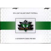2014 Leaf Valiant Football Hobby 15 Box Case