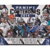 2014 Panini Contenders Football Hobby 12 Box Case