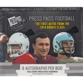 2014 Press Pass Football Hobby 20 Box Case