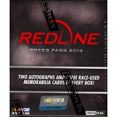 2014 Press Pass Redline Racing Hobby 10 Box Case