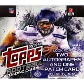 2014 Topps Football Jumbo HTA 6 Box Case