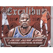 2015/16 Panini Excalibur Basketball 20 Box Case