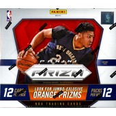 2015/16 Panini Prizm Basketball Jumbo 12 Box Case