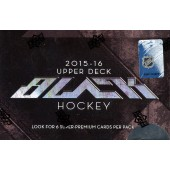 2015/16 Upper Deck Black Hockey Hobby 4 Box Case