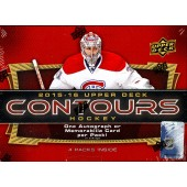 2015/16 Upper Deck Contours Hockey Hobby 8 Box
