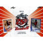 2015 Leaf 25th Baseball Hobby 12 Box Case