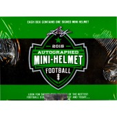2015 Leaf Autographed Mini Helmet Football 8 Box Case