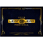 2015 Leaf Clear Football Hobby 12 Box Case