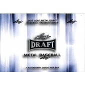 2015 Leaf Metal Draft Baseball Hobby 12 Box Case