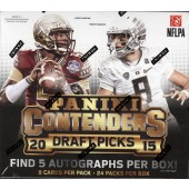 2015 Panini Contenders Draft Picks Football Hobby 12 Box Case