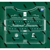 2015 Panini National Treasures Football Hobby 4 Box Case