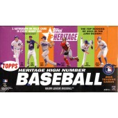 2015 Topps Heritage High Number Baseball Hobby 12 Box Case