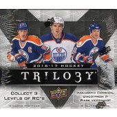 2016/17 Upper Deck Trilogy Hockey Hobby 10 Box Case