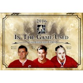2016 Leaf In The Game (ITG) Game Used Hockey 10 Box Case