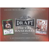 2016 Leaf Metal Baseball Hobby 12 Box Case
