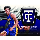 2017/18 Panini Totally Certified Basketball Hobby 16 Box Case