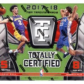 2017/18 Panini Totally Certified Basketball Hobby 8 Box Case