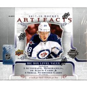 2017/18 Upper Deck Artifacts Hockey Hobby 10 Box Case