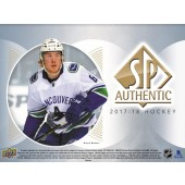 2017/18 Upper Deck SP Authentic Hockey Hobby 8 Box Case