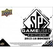 2017/18 Upper Deck SP Game Used Hockey Hobby 10 Box Case