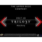 2017/18 Upper Deck Trilogy Hockey Hobby 10 Box Case