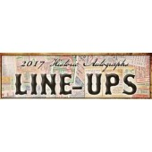 2017 Historic Autographs Line-Ups Baseball Box