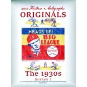 2017 HA Originals The 1930s Series 1 Baseball Box