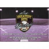 2017 Leaf Greatest Hits Baseball Hobby 3 Box Case