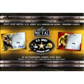2017 Leaf Metal US Army All-American Football 15 Box Case