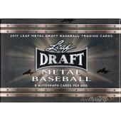 2017 Leaf Metal Draft Baseball Hobby 12 Box Case