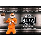 2017 Leaf Metal Draft Football Hobby 15 Box Case