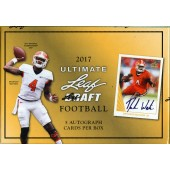 2017 Leaf Ultimate Draft Football Hobby 12 Box Case