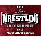 2017 Leaf Wrestling Signed 8x10 Photograph Ed Box