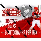 2017 Panini Contenders Draft Picks Baseball Hobby 12 Box Case