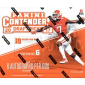 2017 Panini Contenders Draft Picks Football Hobby 12 Box Case