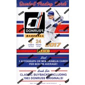 2017 Panini Donruss Baseball Hobby Box