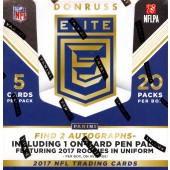 2017 Panini Donruss Elite Football Hobby 12 Box Case
