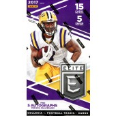 2017 Panini Elite Draft Football Hobby 16 Box Case