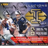 2017 Panini Illusions Football Hobby 16 Box Case