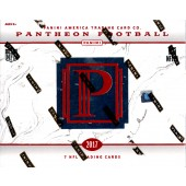 2017 Panini Pantheon Football 5 Box Case