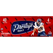 2017 Panini Prestige Football Hobby 12 Box Case