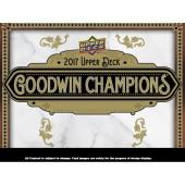 2017 Upper Deck Goodwin Champions Hobby 8 Box Case