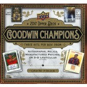 2017 Upper Deck Goodwin Champions Hobby 8 Box Case