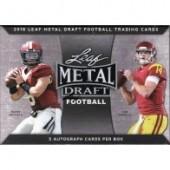 2018 Leaf Metal Draft Football Hobby 15 Box Case